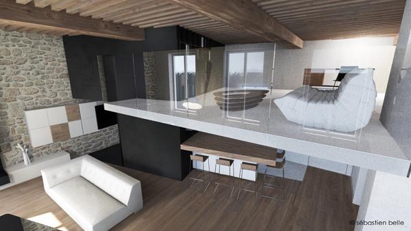 Duplex M  Lyon  S Belle  Architecte Intérieur