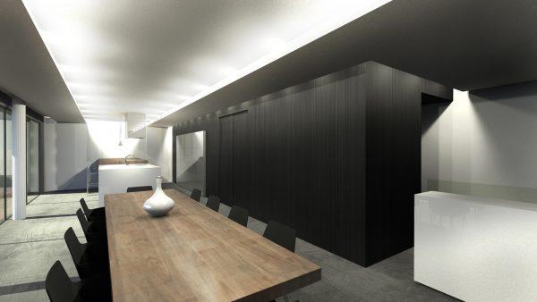 intérieur maison contemporaine Aix-les-bains