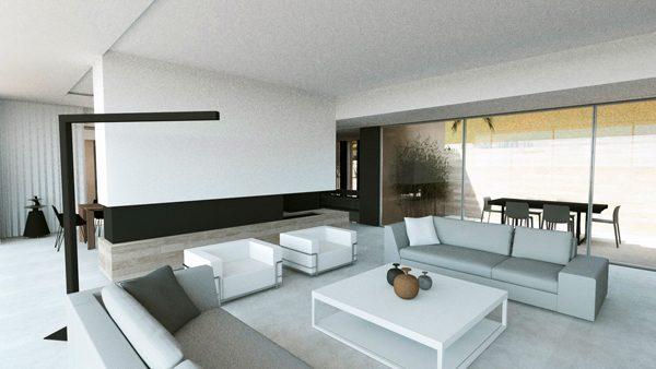 villa sainte-maxime architectes salon
